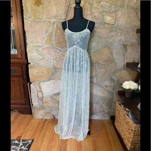 Free People sheer with sequins maxi dress